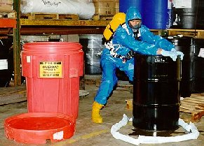 Protective clothing and spill remediation